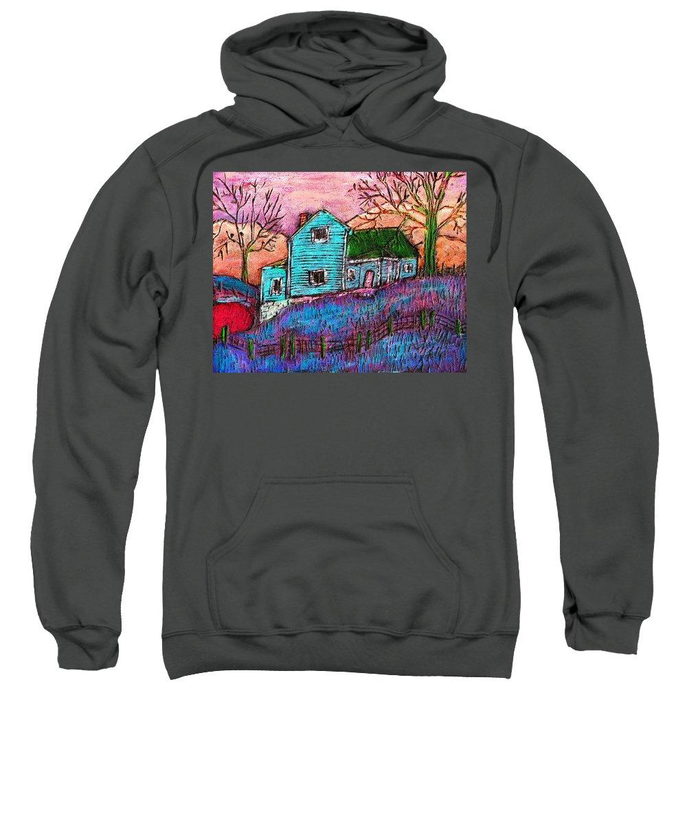 Farm Sweatshirt featuring the painting The Homestead I by Wayne Potrafka