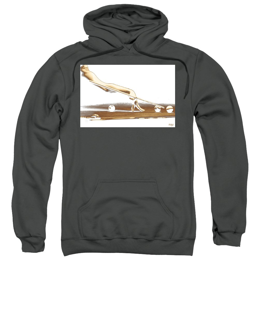 Abstract Sweatshirt featuring the photograph The Hustler by Holly Kempe