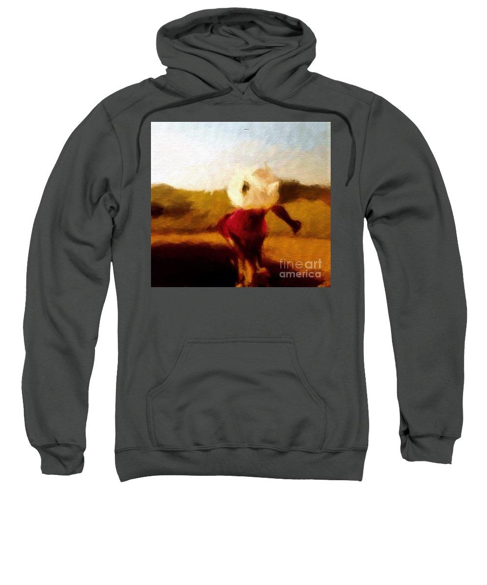 Iris Sweatshirt featuring the painting The Impressionist Iris by Debra Lynch
