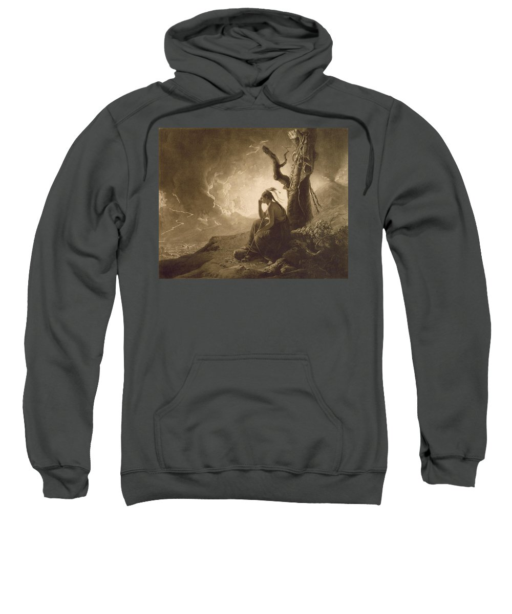 Xyc284841 Sweatshirt featuring the photograph The Indian Widow by Joseph Wright of Derby