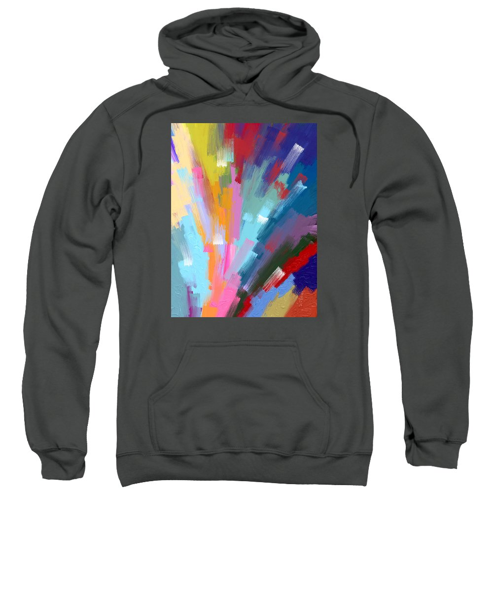 Abstract Sweatshirt featuring the painting The Journey Begins by Samsudin Ismail