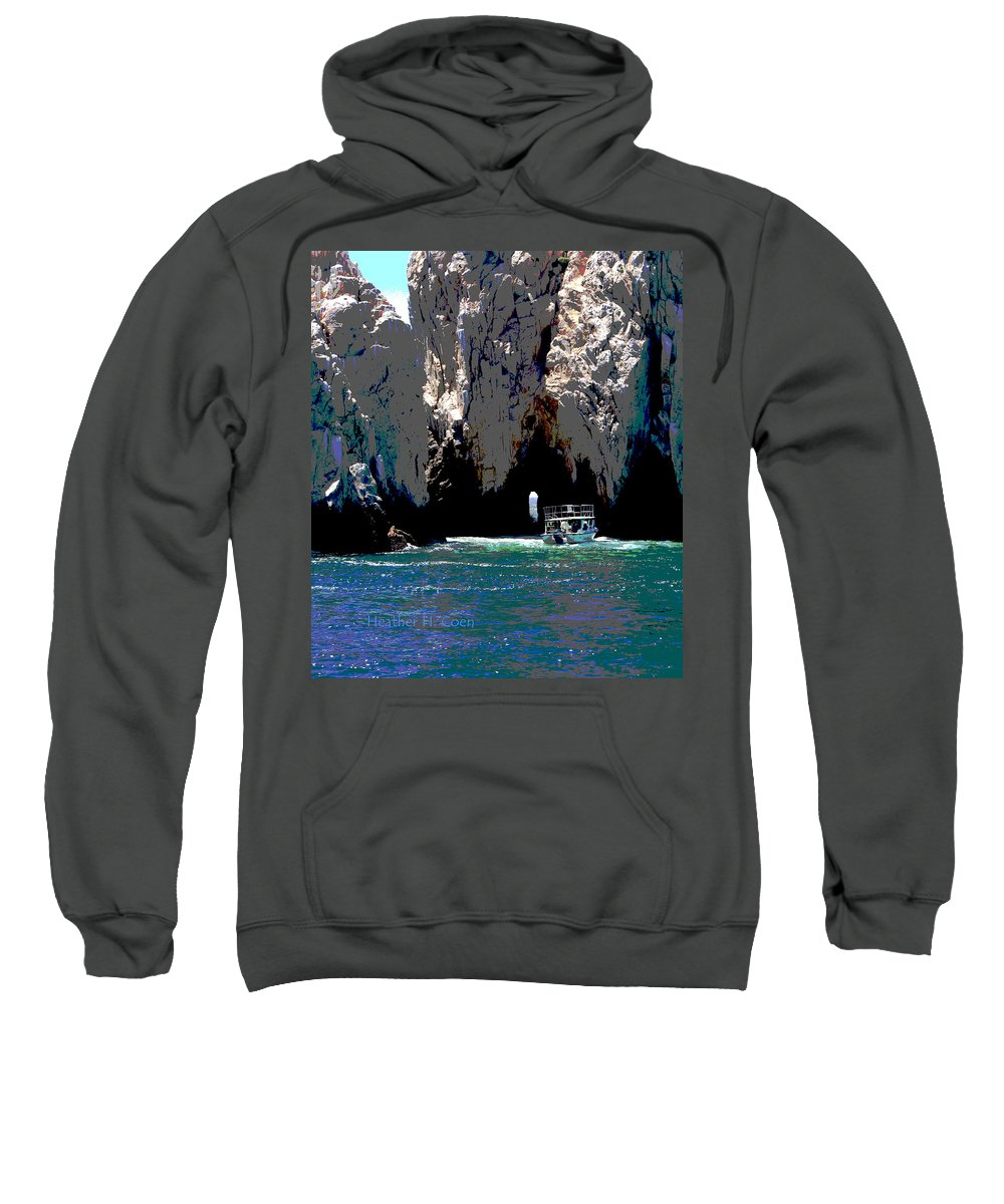 Mexico Sweatshirt featuring the photograph The Keyhole Mexico Cabo San Lucas by Heather Coen