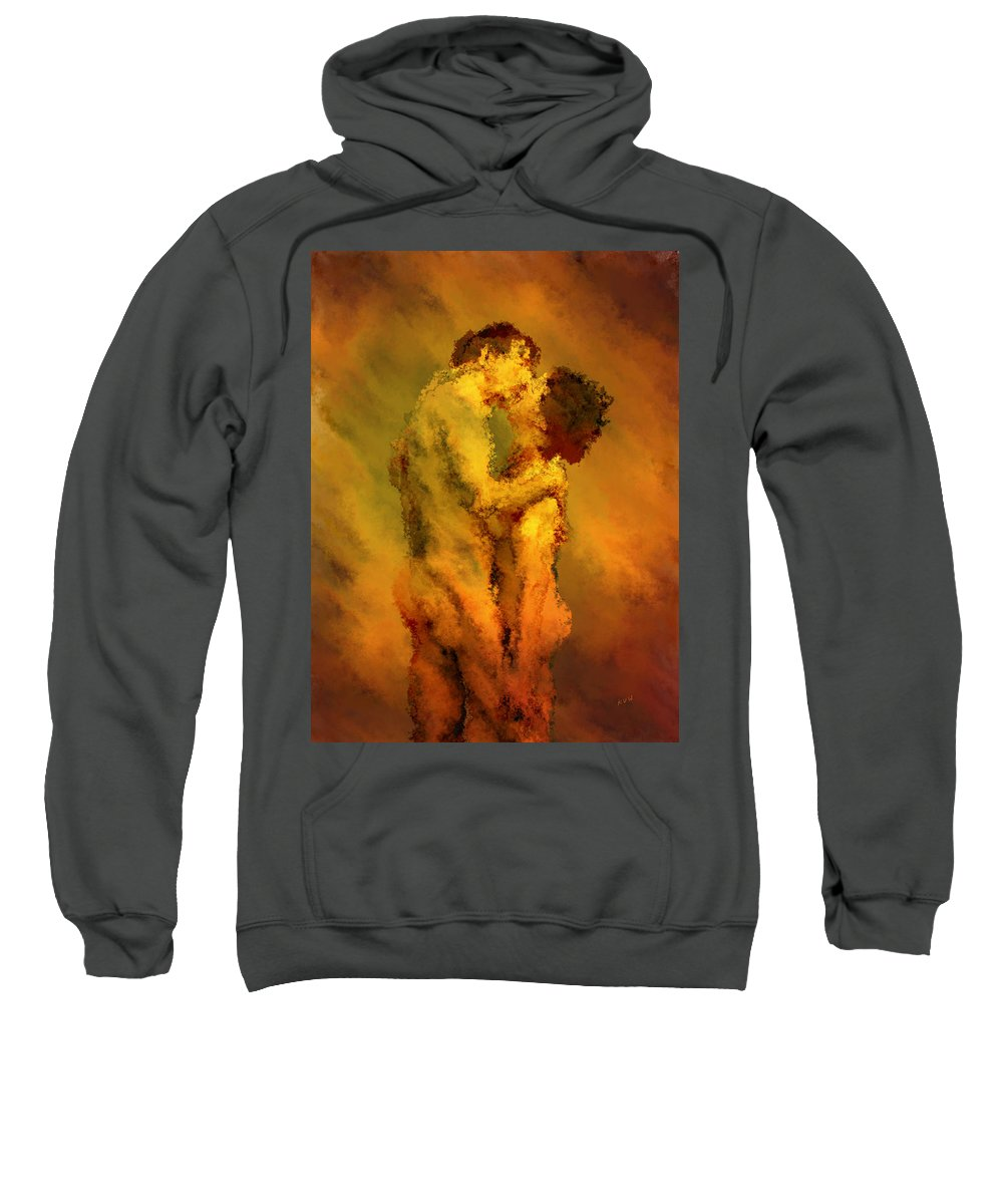 Nudes Sweatshirt featuring the photograph The Kiss by Kurt Van Wagner