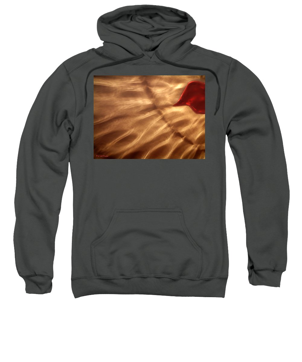 Glow Sweatshirt featuring the painting The Kiss Of The Sun by RC DeWinter