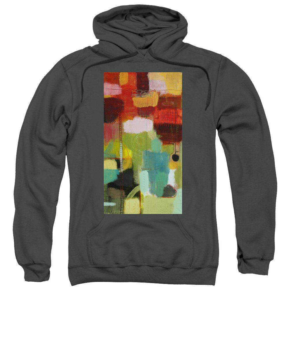 Abstract Sweatshirt featuring the painting The Ladder Of Life by Habib Ayat