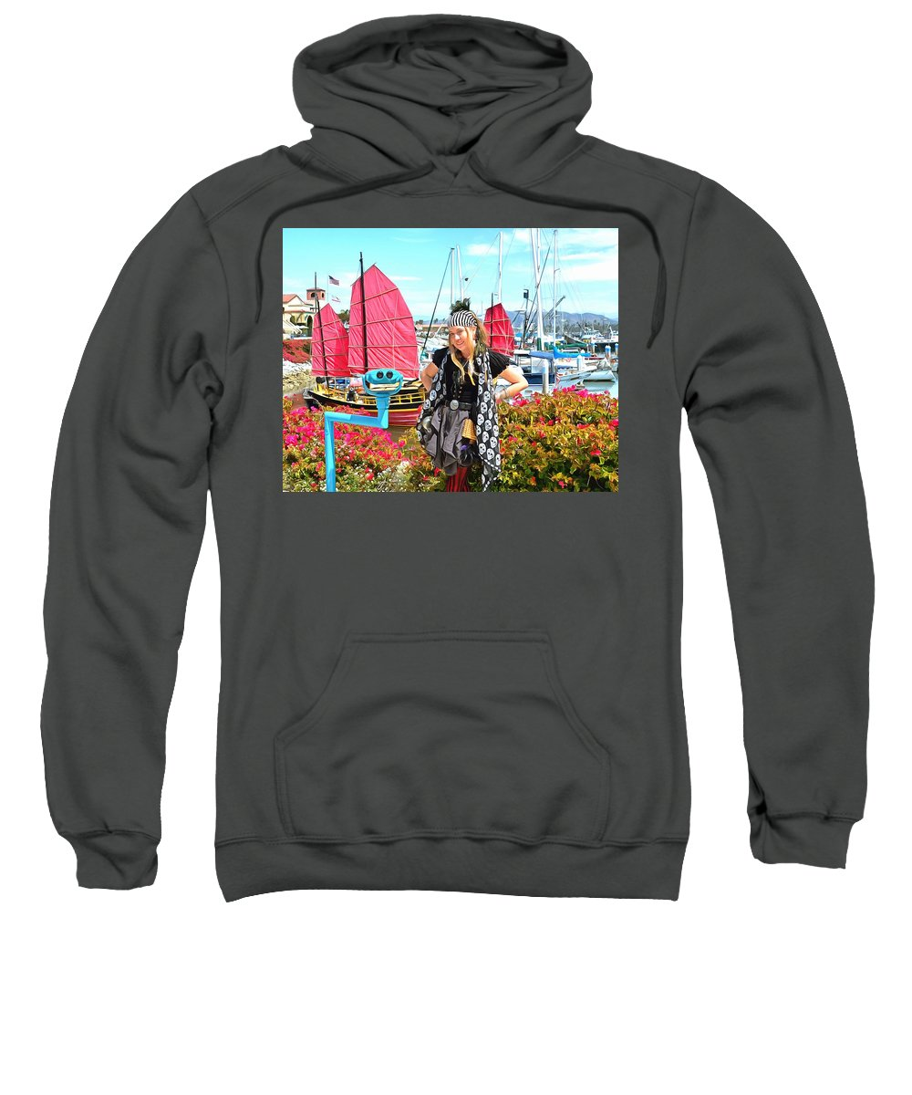 The Lady Pirate Sweatshirt featuring the photograph The Lady Pirate by The Lady Pirate