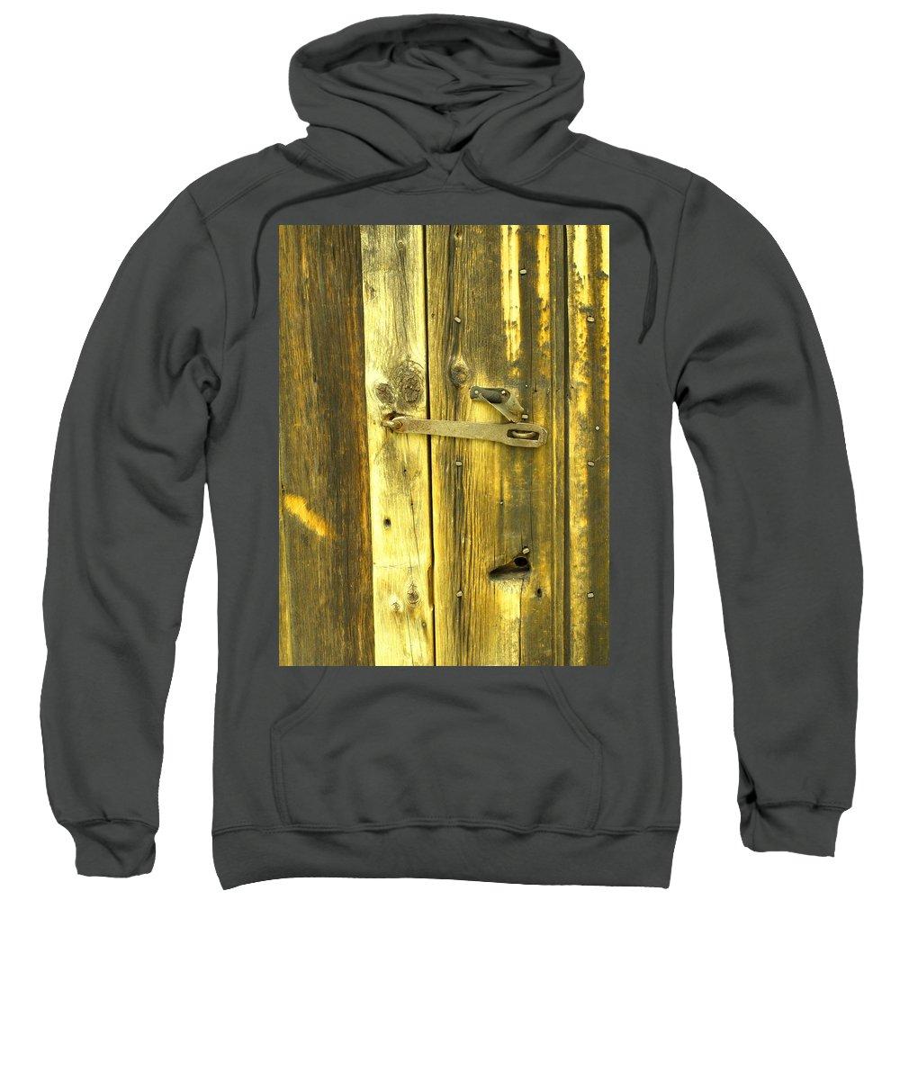 Pioneer Sweatshirt featuring the photograph The Latch by Ian MacDonald