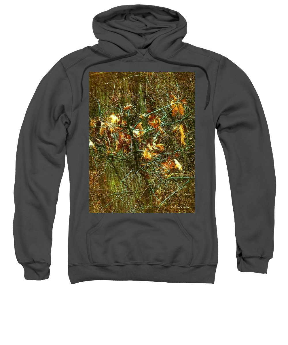 Autumn Sweatshirt featuring the digital art The Light In The Forest by RC DeWinter