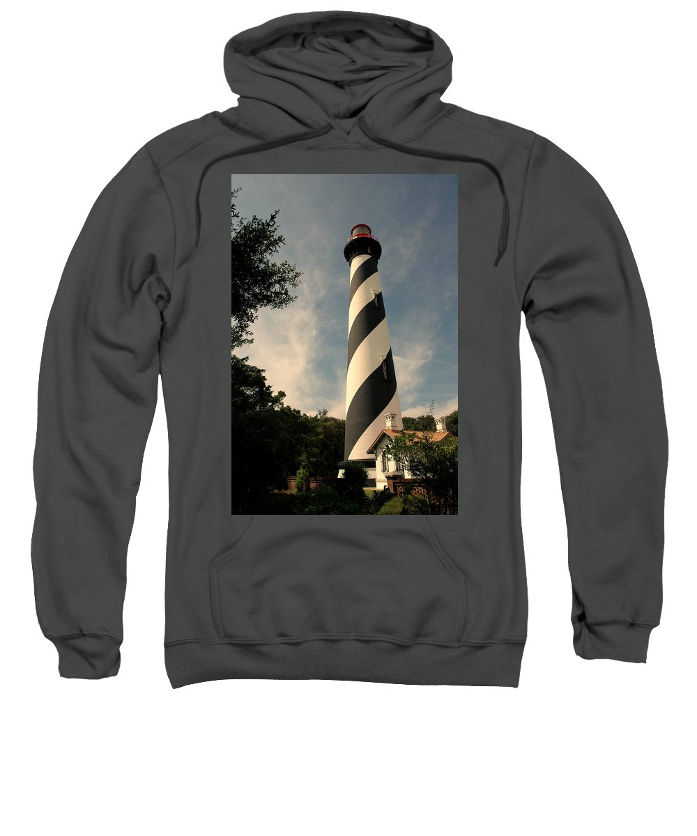 Lighthouse Sweatshirt featuring the photograph The Lighthouse In St.augustin Fl by Susanne Van Hulst
