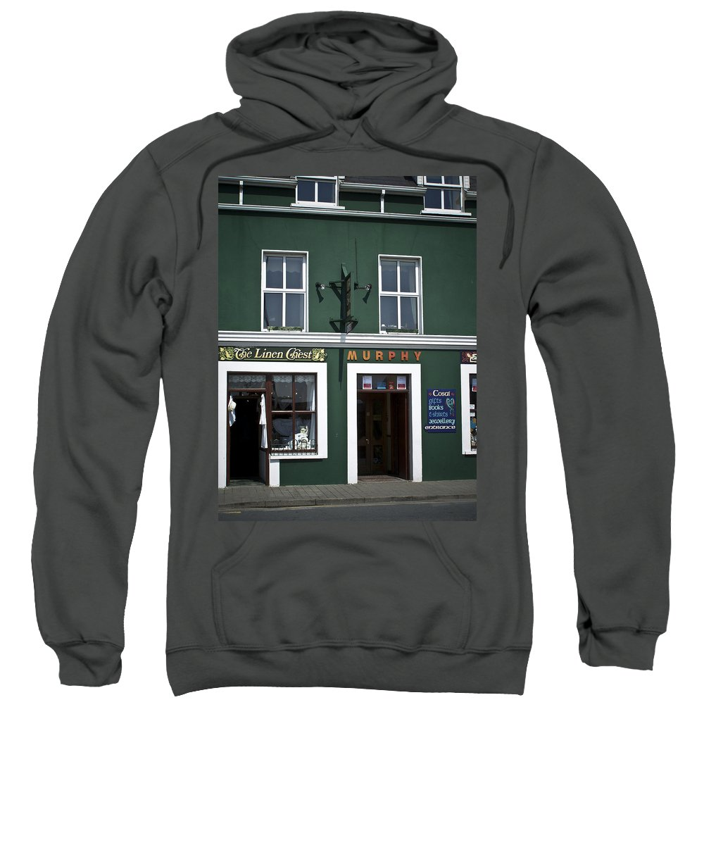 Irish Sweatshirt featuring the photograph The Linen Chest Dingle Ireland by Teresa Mucha