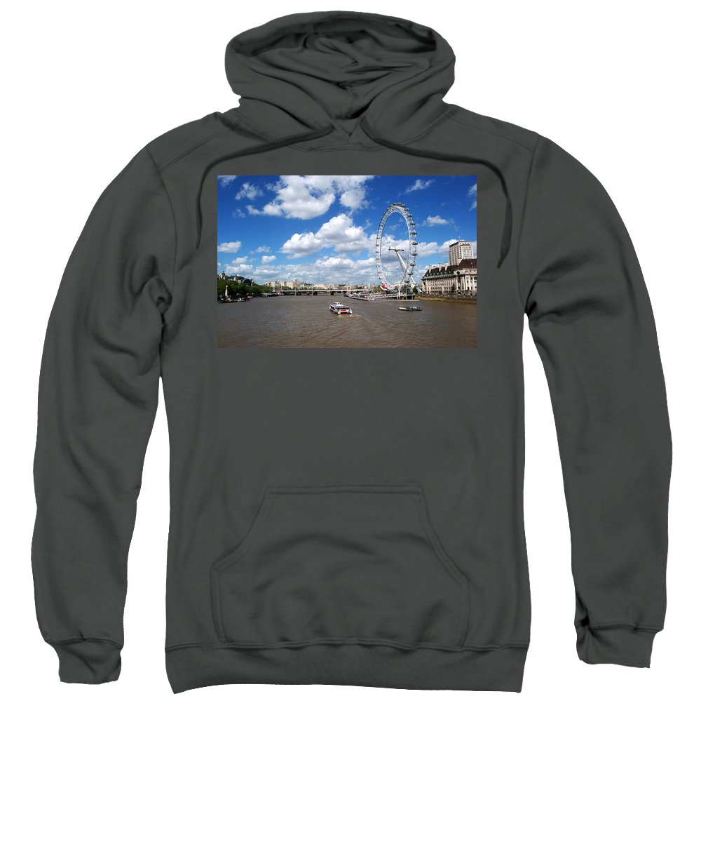 London Eye Sweatshirt featuring the photograph The London Eye by Chris Day