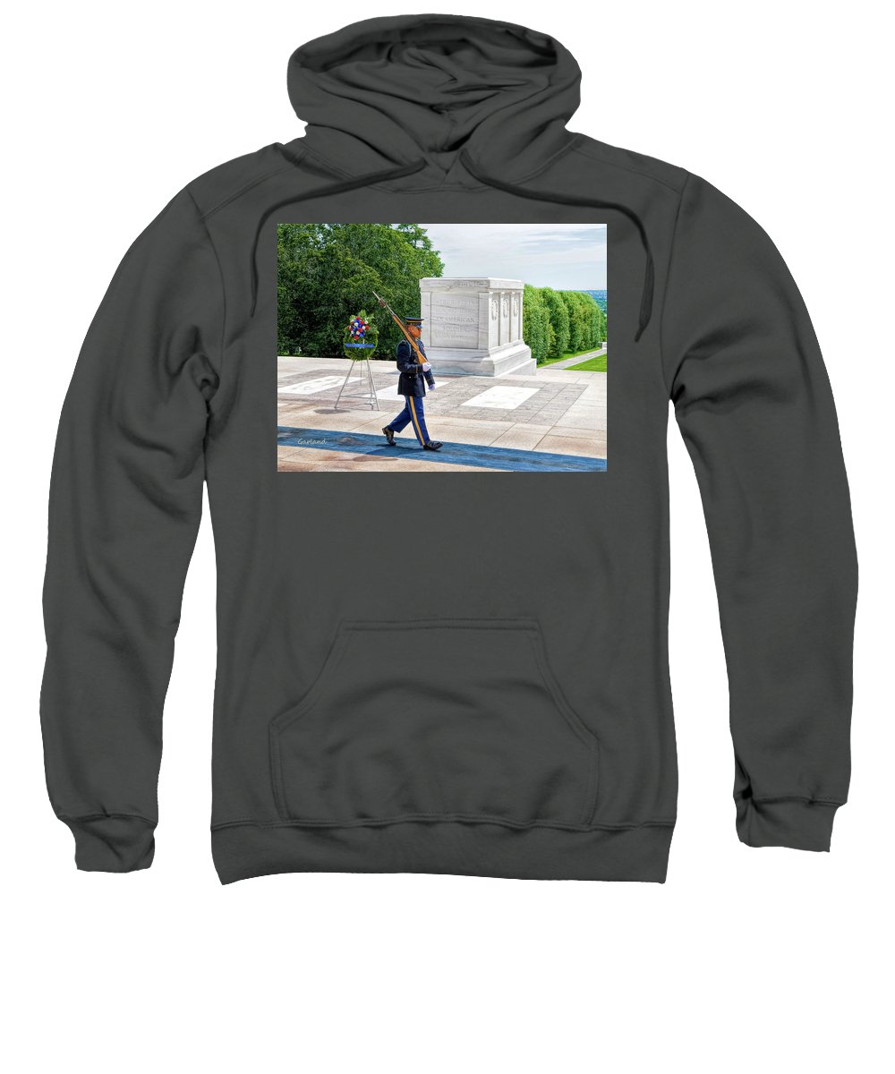 Soldier Sweatshirt featuring the digital art The Lonely Walk 2 by Garland Johnson