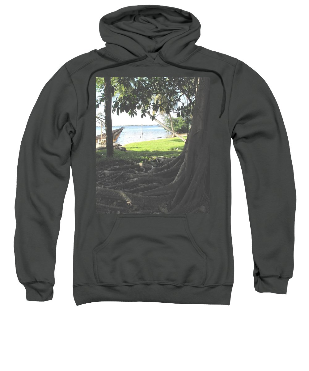 Florida Sweatshirt featuring the photograph The Long Dock by Ian MacDonald