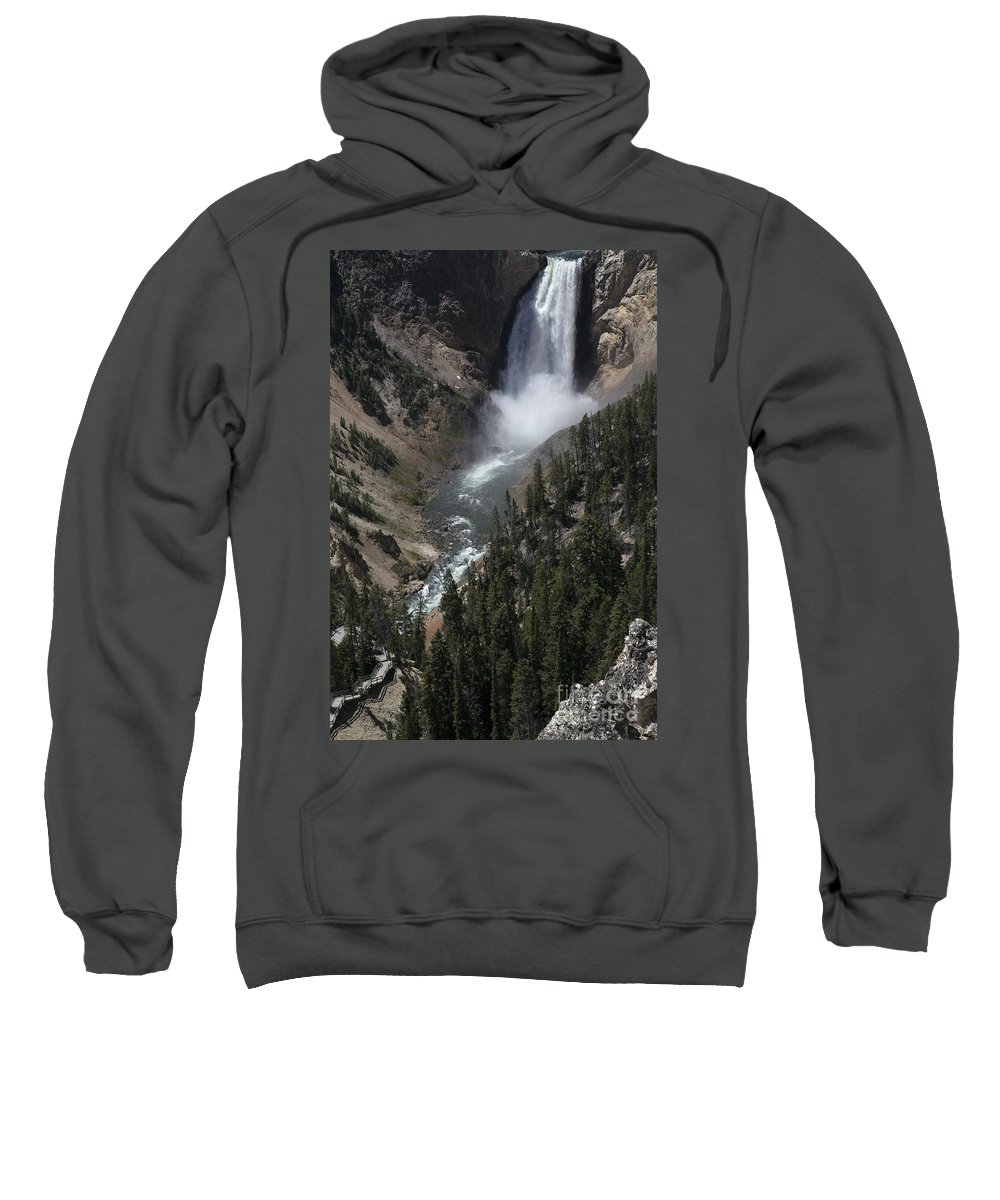 Water Sweatshirt featuring the photograph The Lower Falls by Darryl Patrick