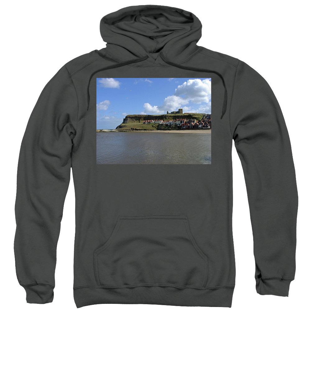 Whitby Abbey Sweatshirt featuring the photograph The Majestic East Cliff by Rod Johnson