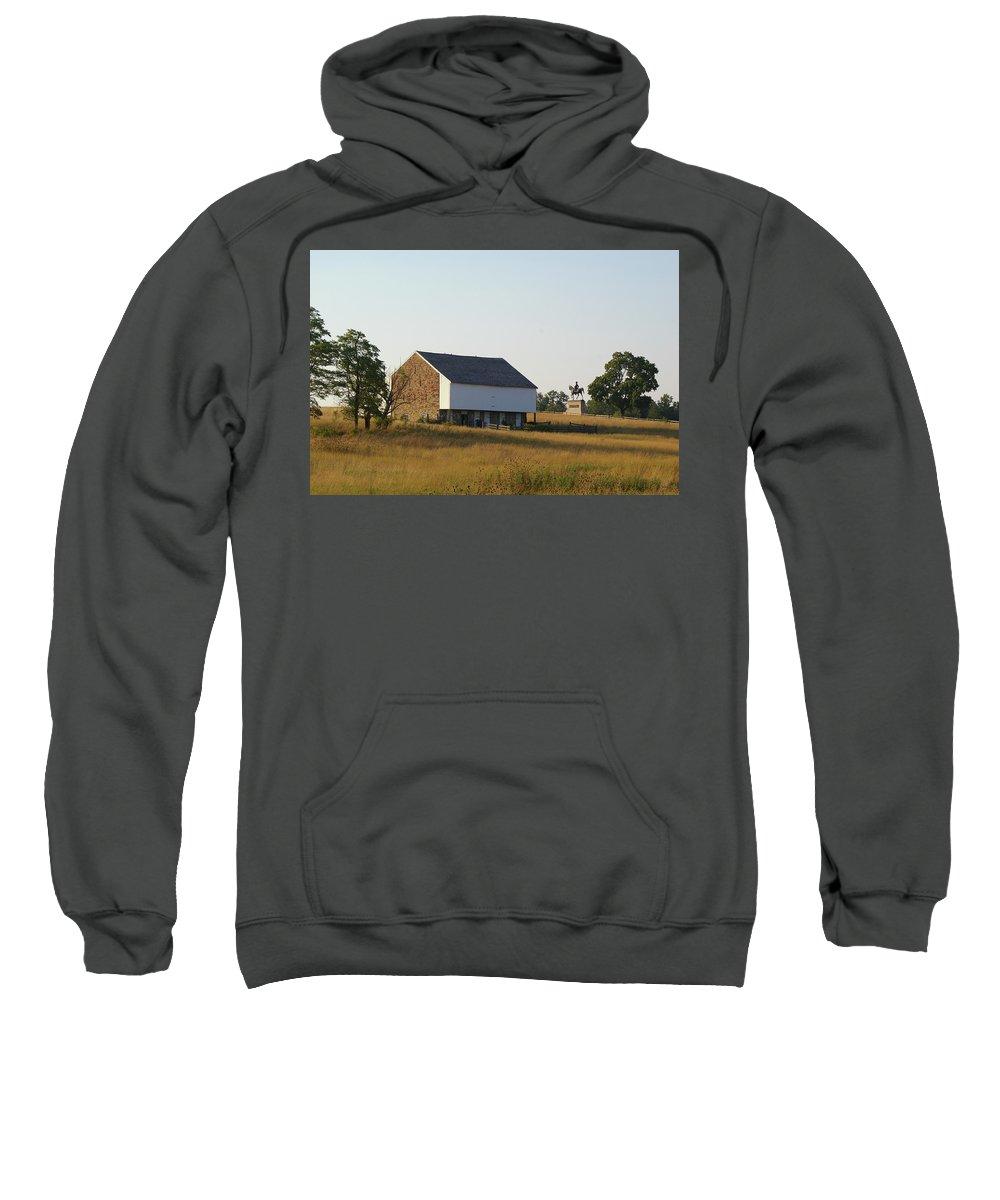 Gettysburg Sweatshirt featuring the photograph The Mcpherson Barn by Jen Goellnitz