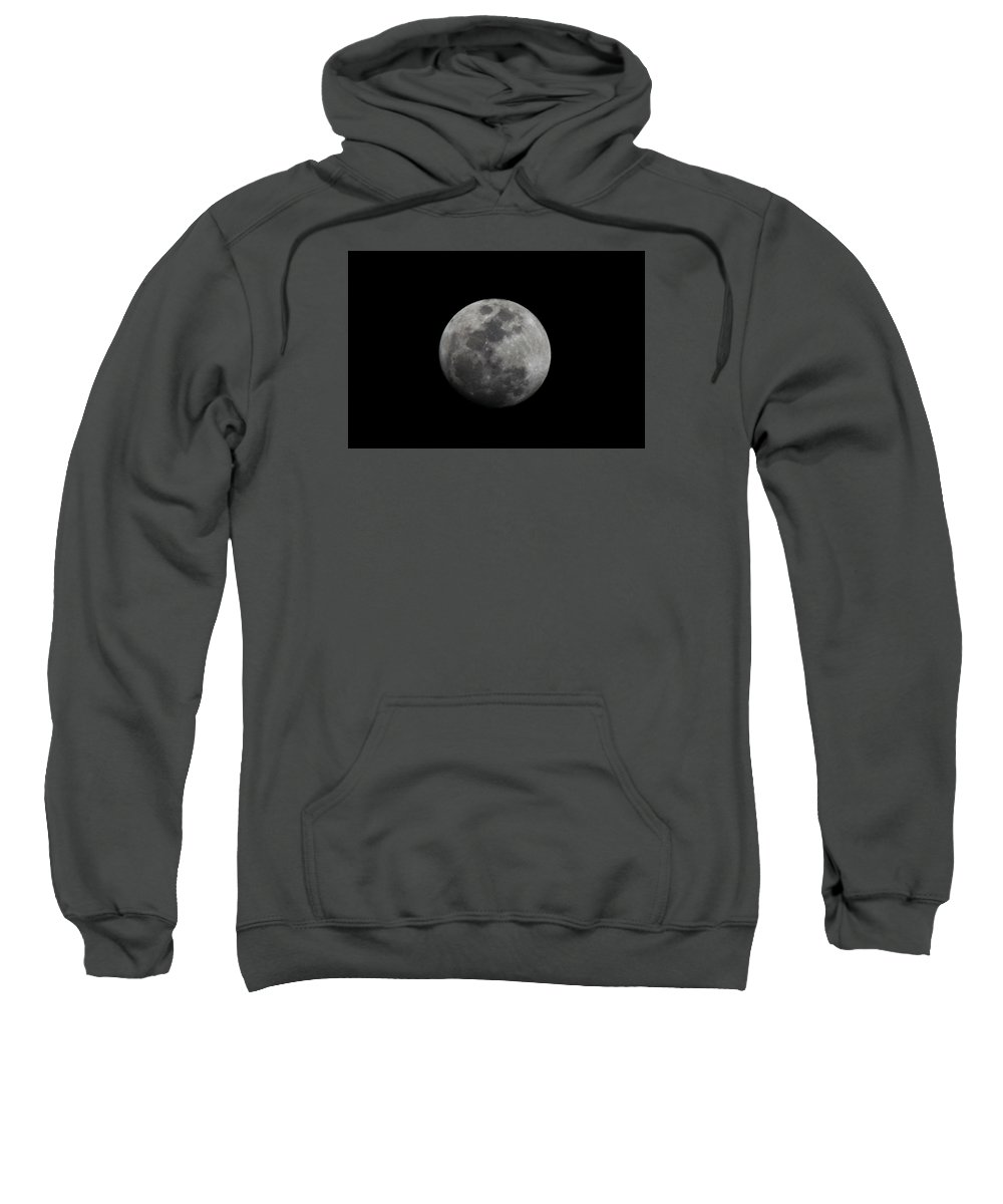 The Moon Sweatshirt featuring the photograph The Moon - La Luna 4 by Totto Ponce