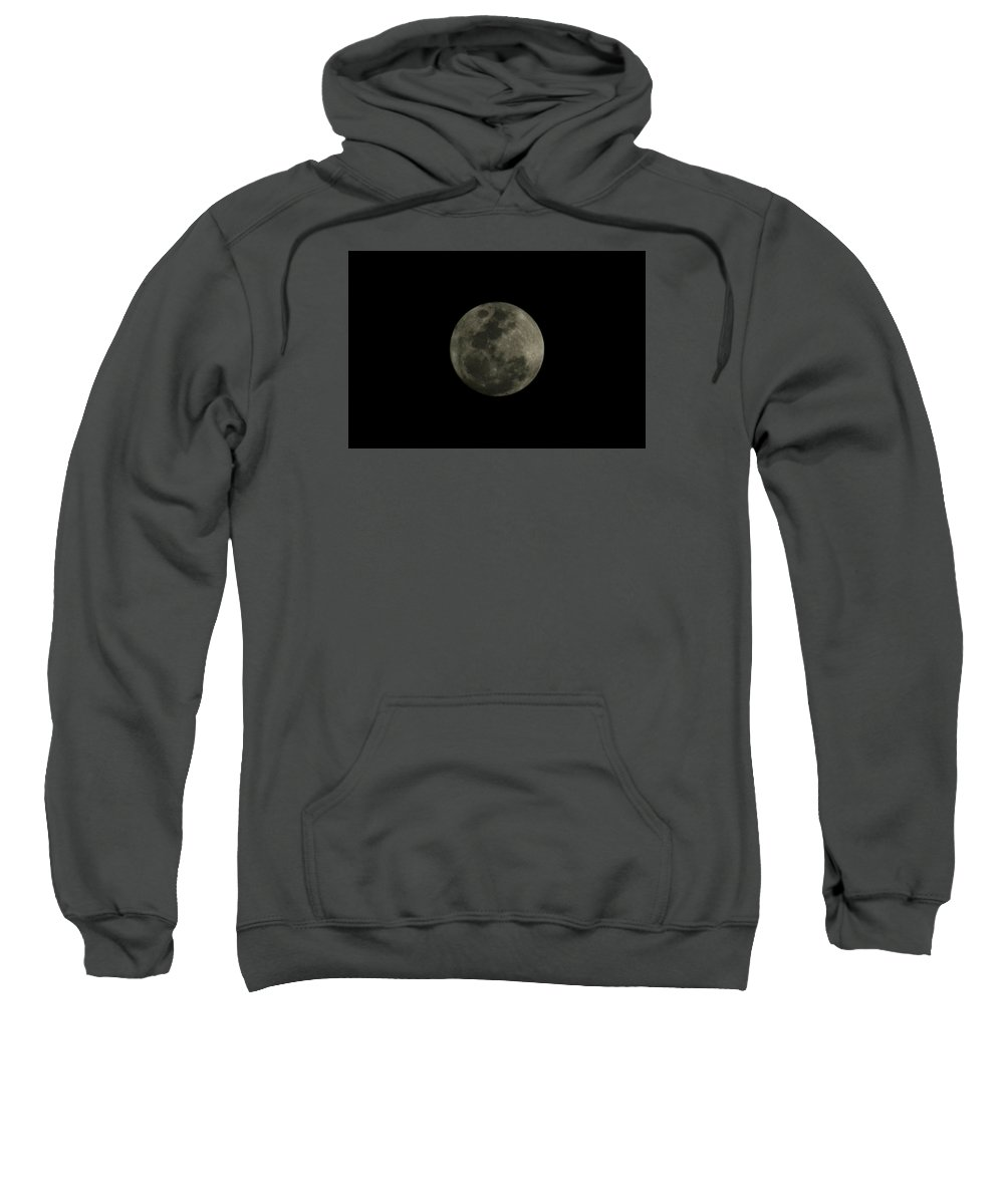 The Moon Sweatshirt featuring the photograph The Moon - La Luna 5 by Totto Ponce