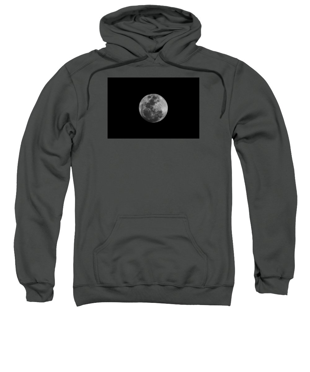 The Moon Sweatshirt featuring the photograph The Moon - La Luna 6 by Totto Ponce