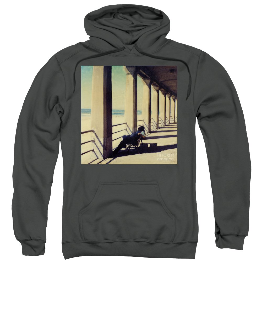 Seashore Sweatshirt featuring the photograph The Nap by Keith Dillon