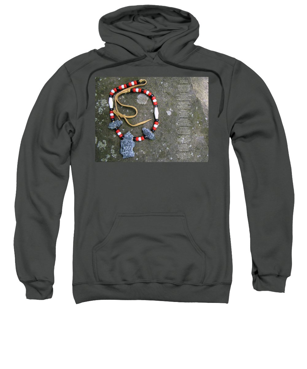 native American Sweatshirt featuring the photograph The Necklace by Mother Nature