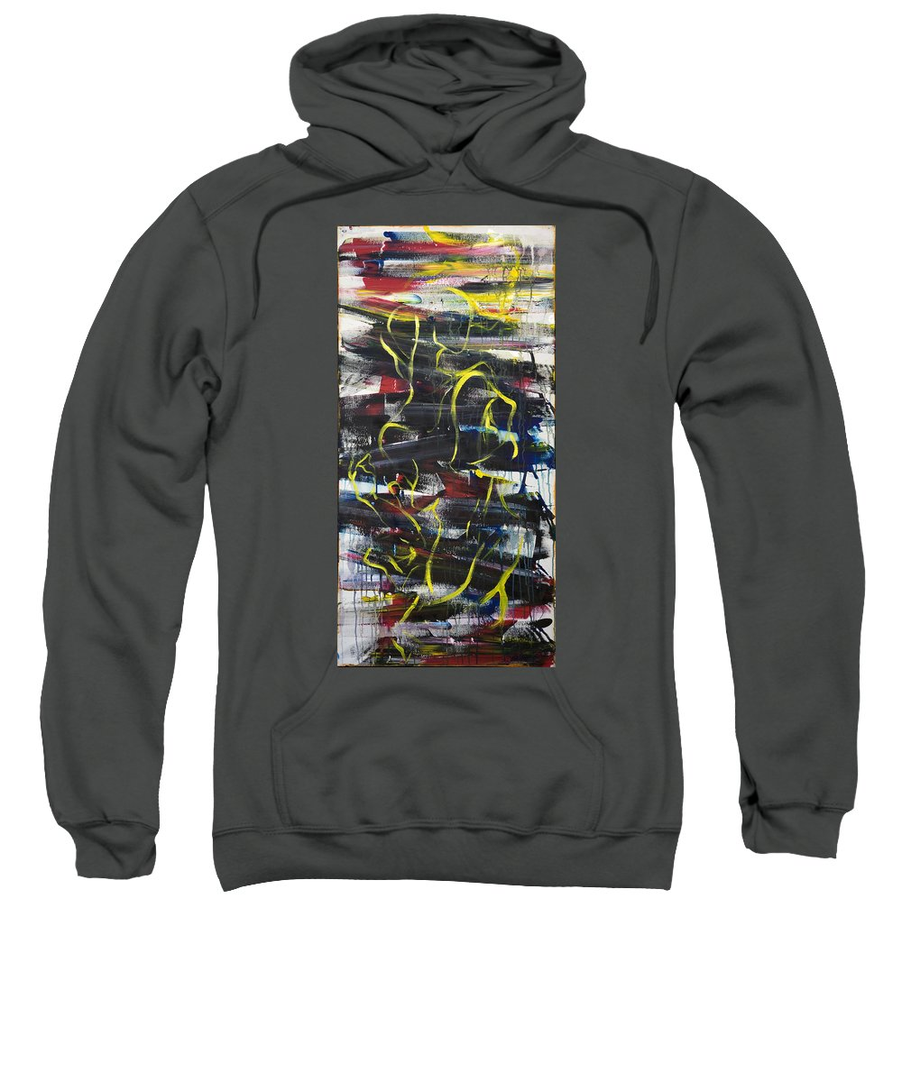 Black Sweatshirt featuring the painting The Noose by Sheridan Furrer