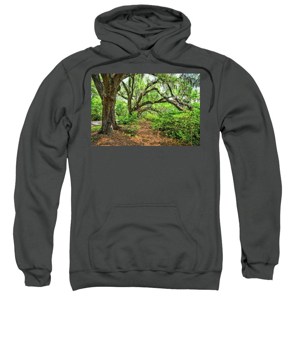 Oaks Sweatshirt featuring the photograph The Oaks by Susan Pantuso