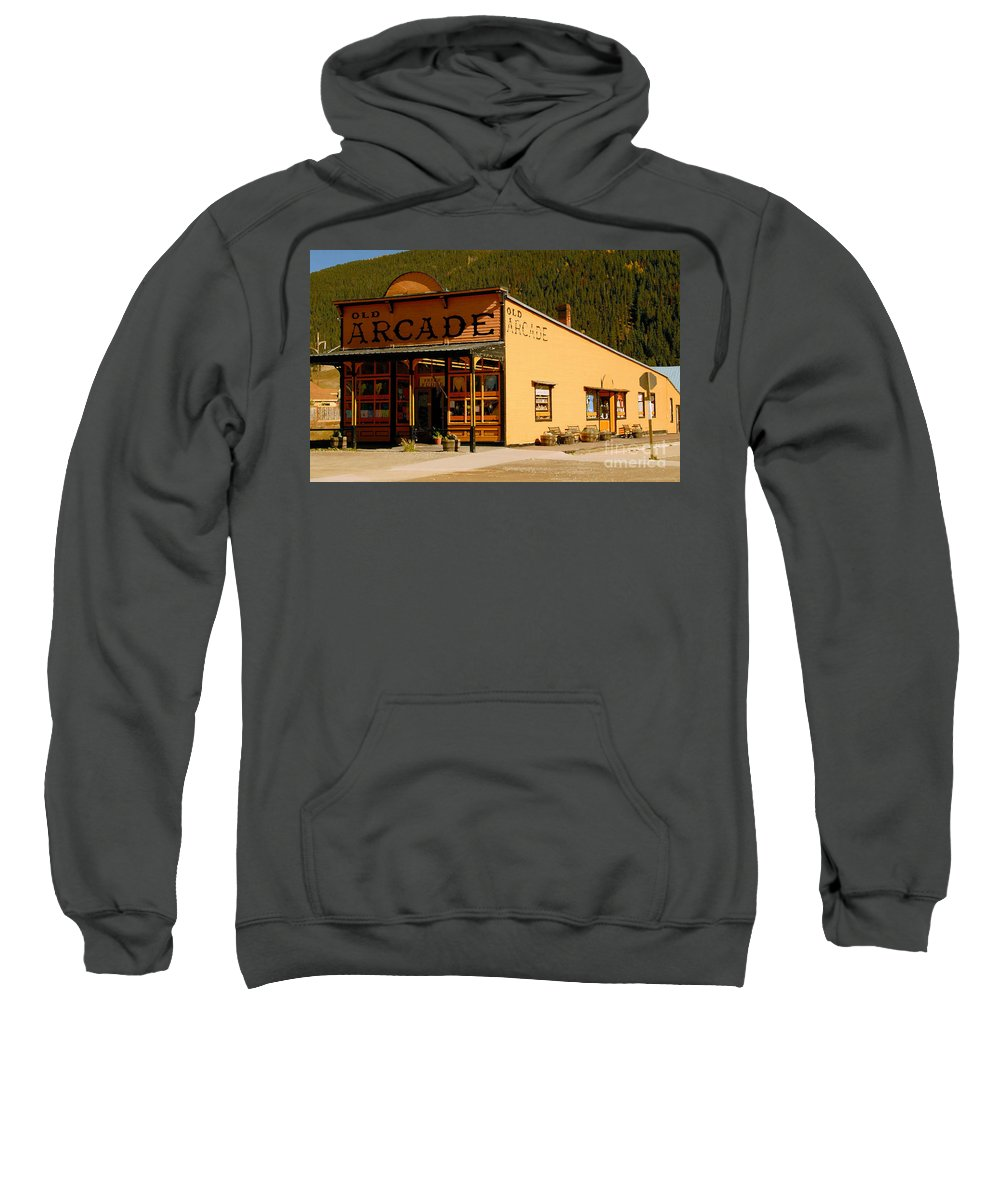 Arcade Sweatshirt featuring the photograph The Old Arcade by David Lee Thompson