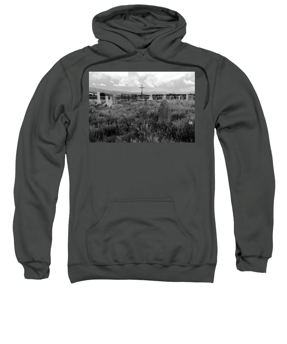 Galisteo New Mexico Sweatshirt featuring the photograph The Old Cemetery At Galisteo by David Lee Thompson