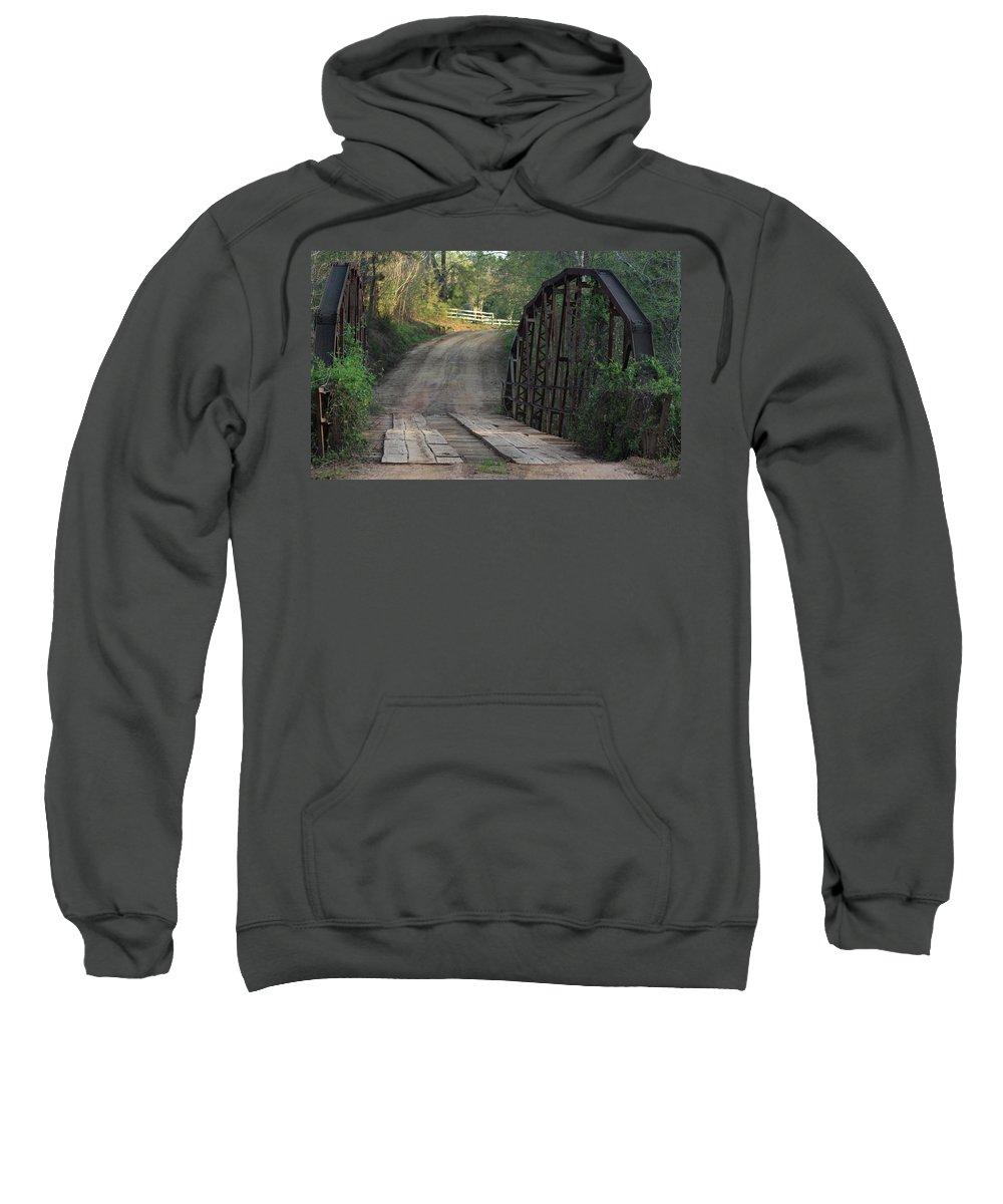 Bridge Sweatshirt featuring the photograph The Old Country Bridge by Kim Henderson