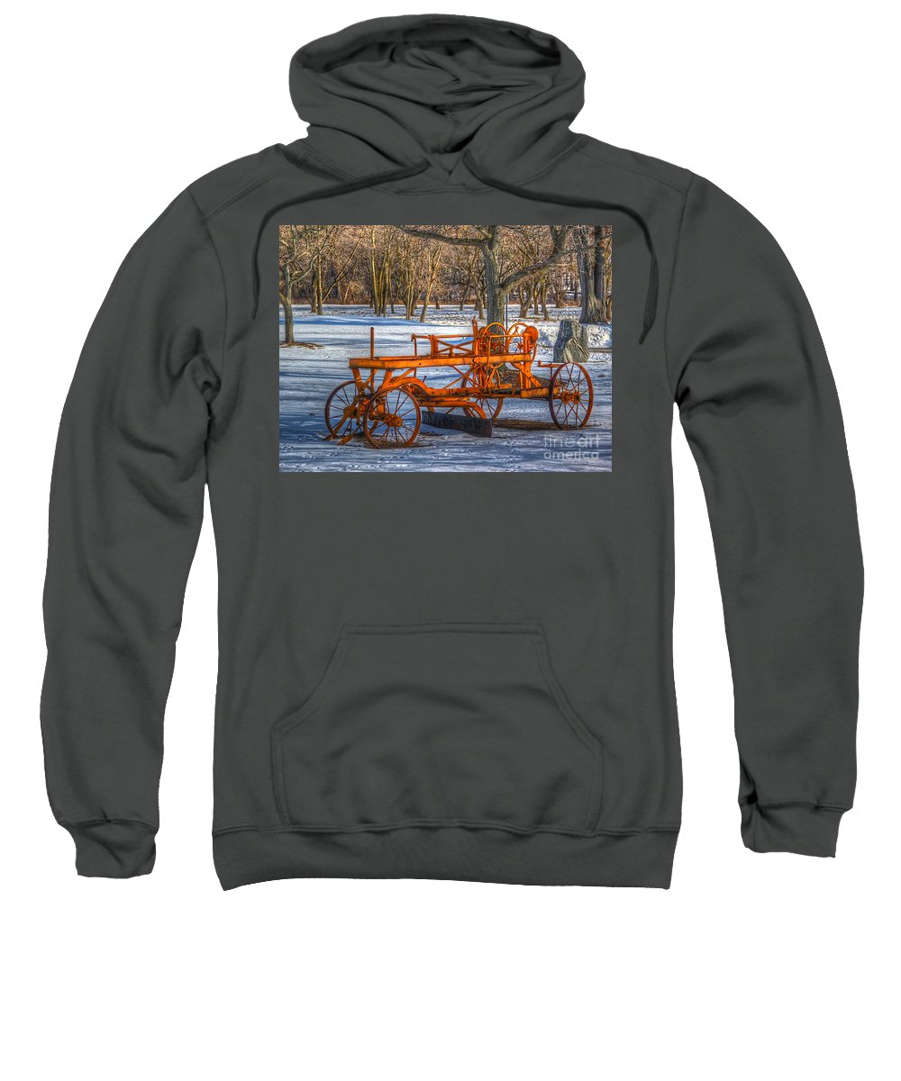 Old Sweatshirt featuring the photograph The Old Grader by Robert Pearson