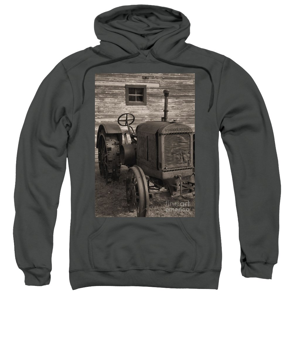 Abandoned Sweatshirt featuring the photograph The Old Mule by Richard Rizzo