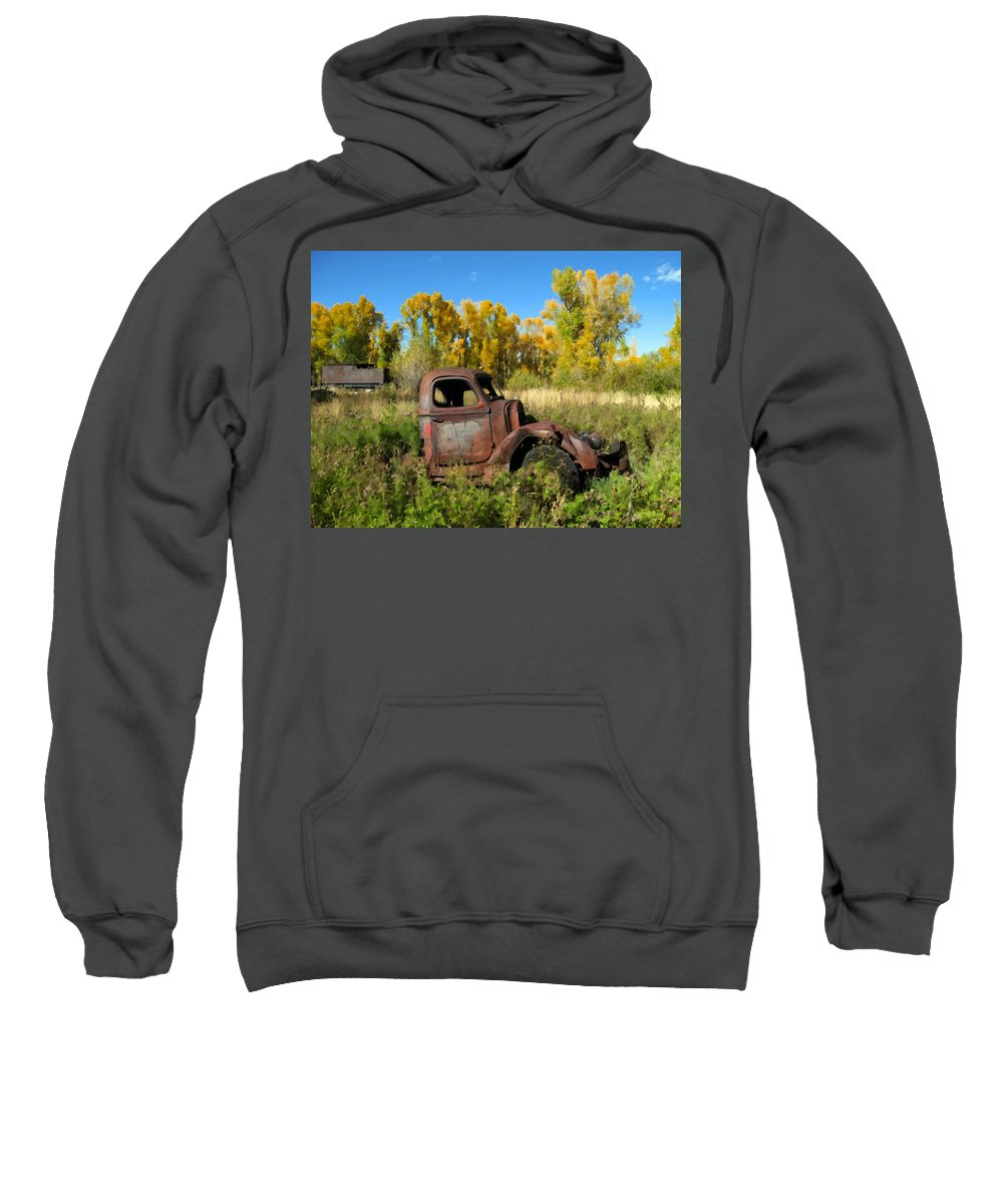 Truck Sweatshirt featuring the photograph The Old Truck Chama New Mexico by Kurt Van Wagner