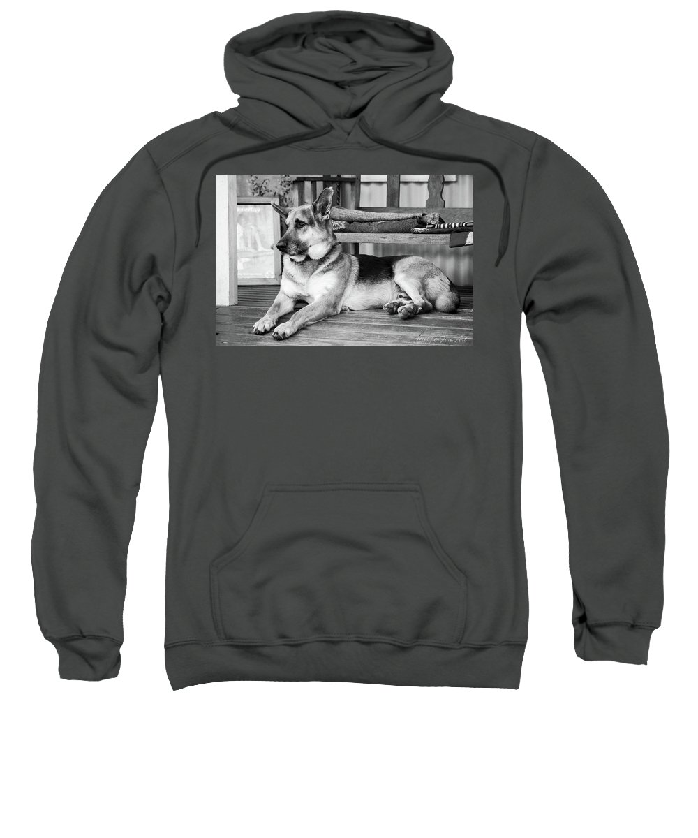 German Shepherd Dog Sweatshirt featuring the photograph The Old Watch Dog by Tracey Beer
