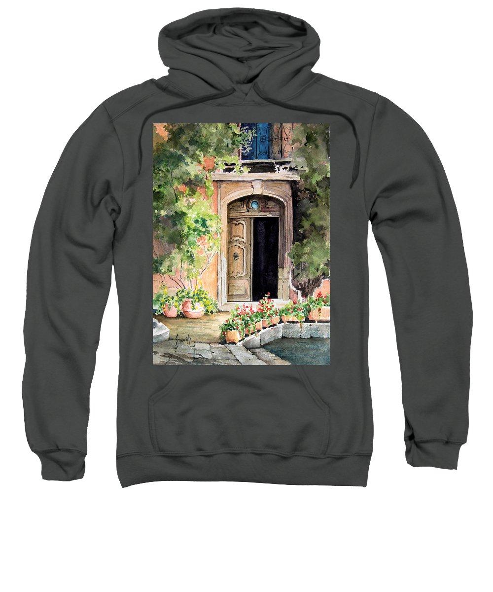Door Sweatshirt featuring the painting The Open Door by Sam Sidders