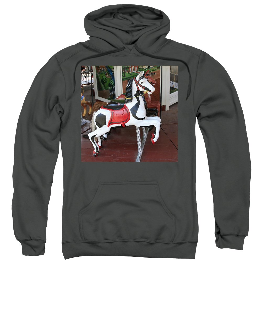 Horse Sweatshirt featuring the photograph The Painted Horse by Robert Pearson