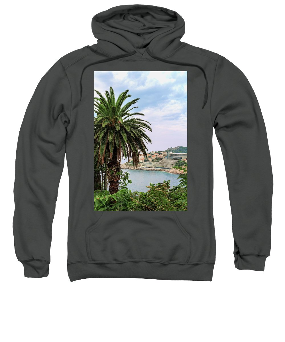 George Westermak Sweatshirt featuring the photograph The Palm Is Always Associated With Summer, Sea, Travelling To Warm Countries And Rest by George Westermak