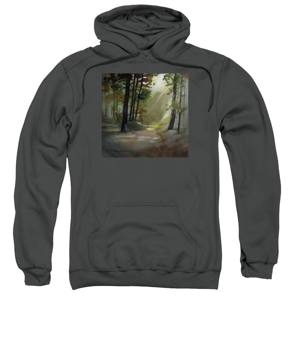 Landscape Sweatshirt featuring the painting The Path Love Took by Catherine Nash