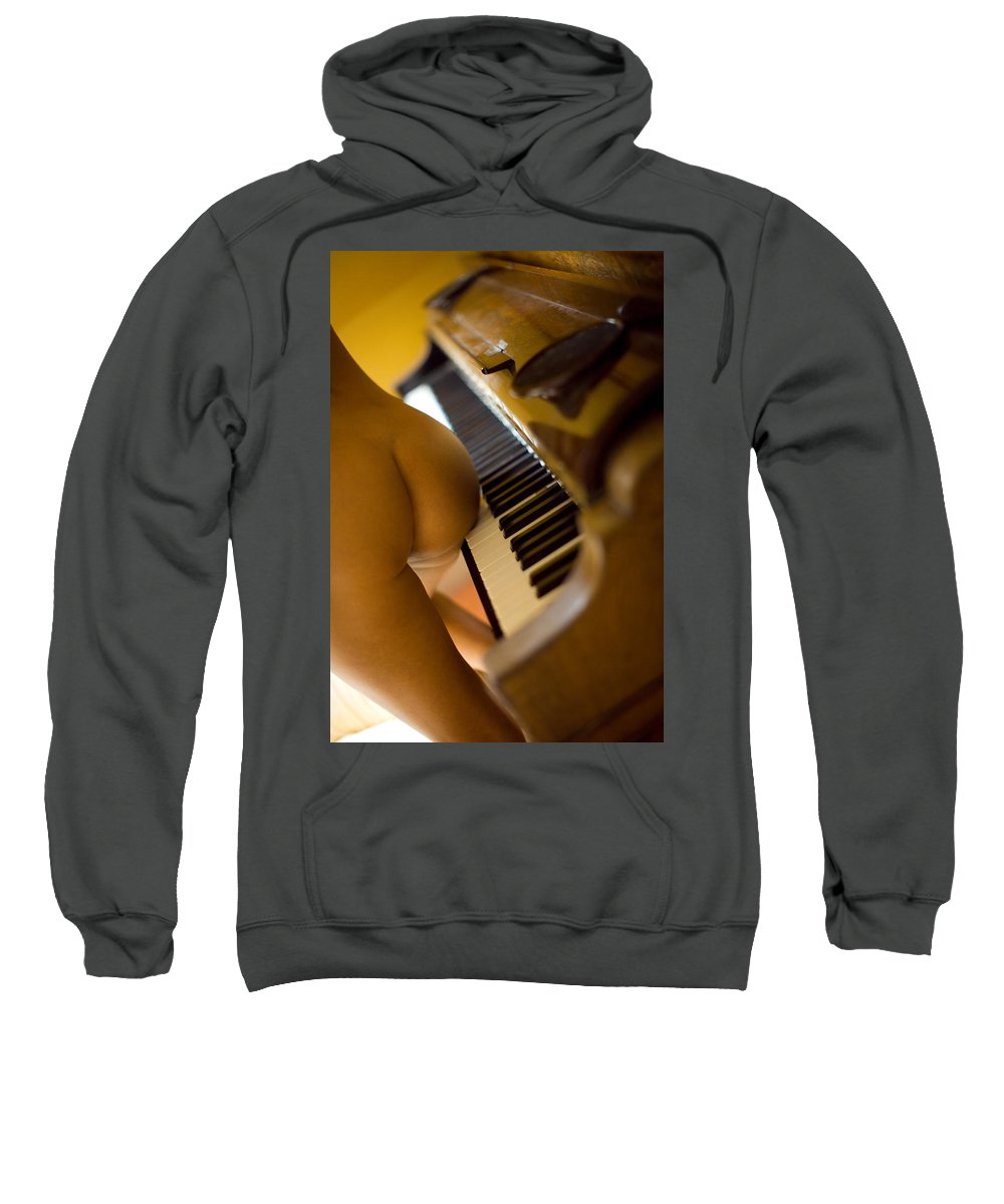 Sensual Sweatshirt featuring the photograph The Piano by Olivier De Rycke