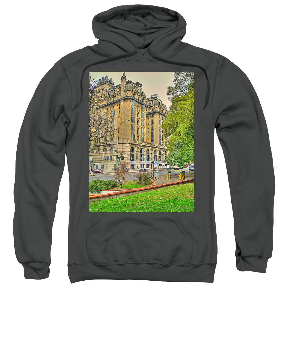 Hotel Sweatshirt featuring the photograph The Plaza by Francisco Colon