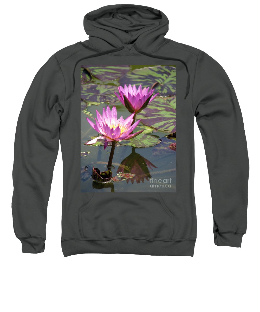 Lillypad Sweatshirt featuring the photograph The Pond by Amanda Barcon