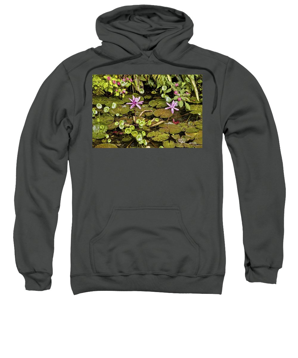 Flowers Sweatshirt featuring the photograph The Pond by Madeline Ellis