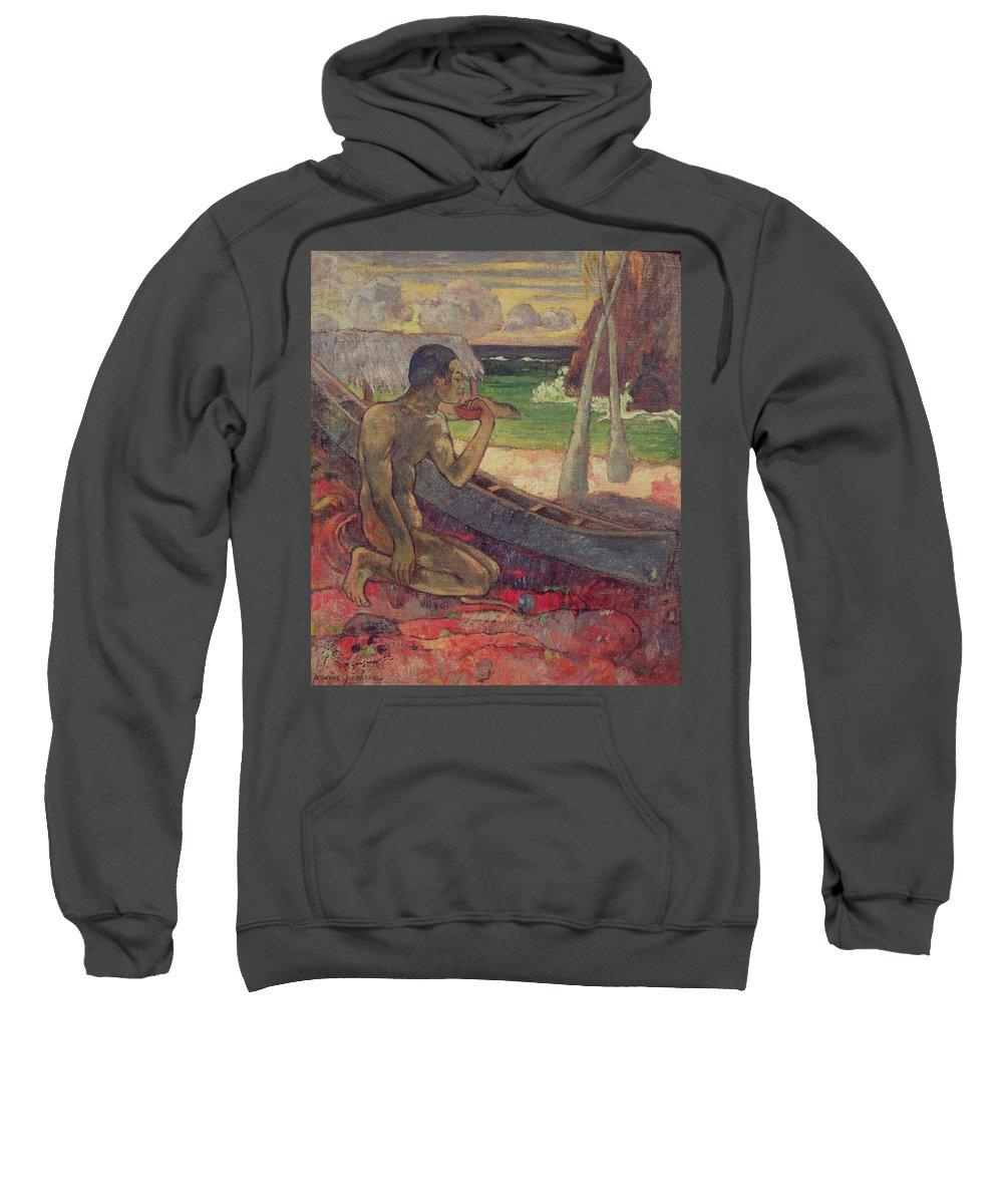The Poor Fisherman Sweatshirt featuring the painting The Poor Fisherman by Paul Gauguin