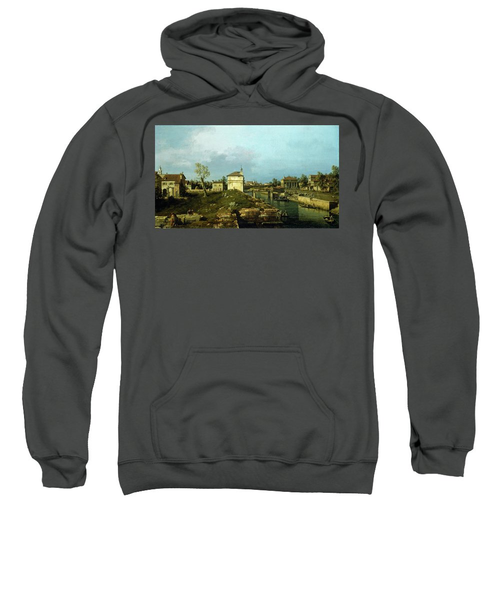 Canaletto Sweatshirt featuring the painting The Porta Portello, Padua by Canaletto