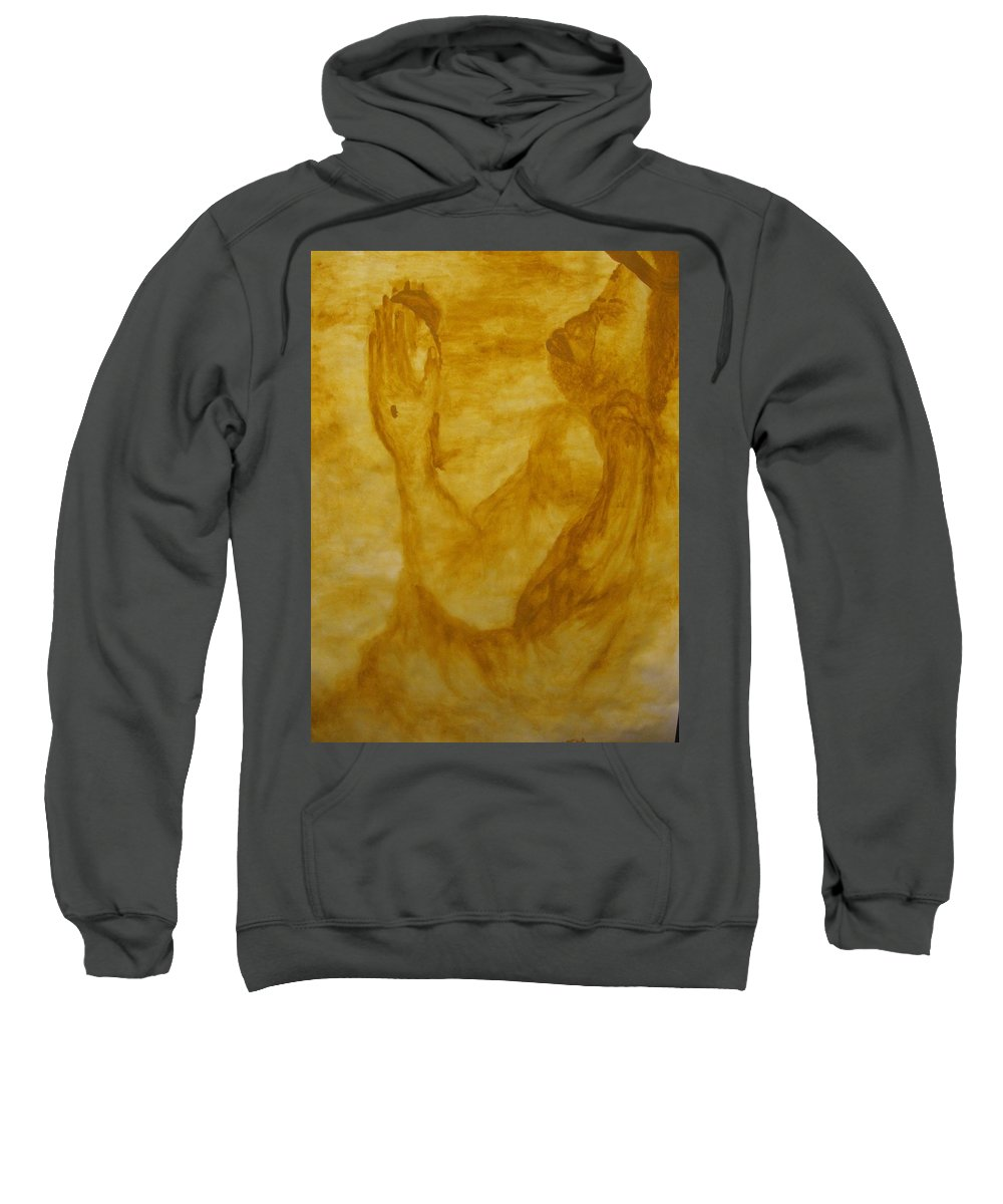 Gloria Ssali Sweatshirt featuring the painting The Potter by Gloria Ssali