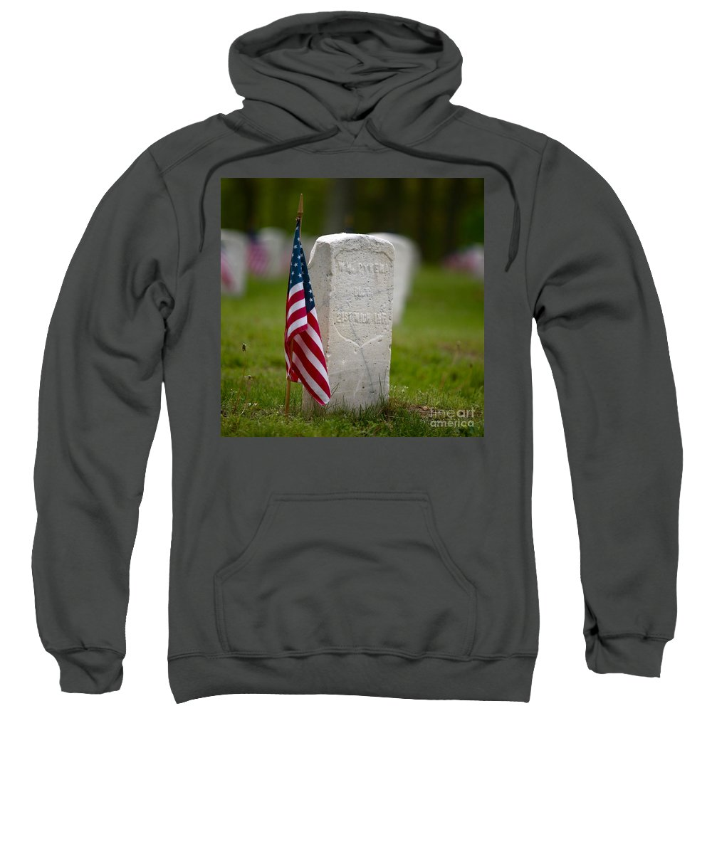 Grave Sweatshirt featuring the photograph The Price Of Freedom by Robert Pearson