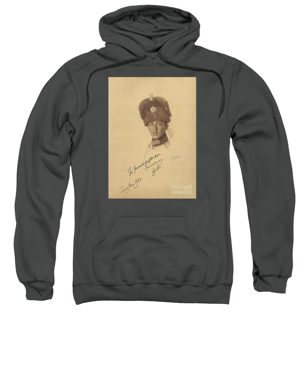 The Prince Kyrill Of Bulgaria Kyril Of Saxe-coburg And Gotha Kohary Sweatshirt featuring the painting The Prince Kyrill Of Bulgaria by MotionAge Designs