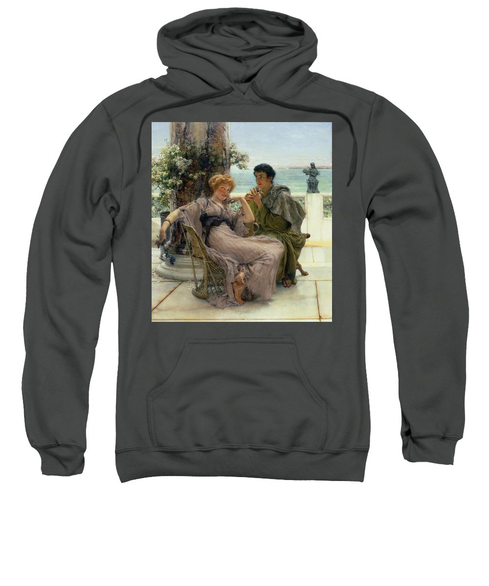 Courtship (the Proposal) 1892 (oil On Canvas) By Sir Lawrence Alma-tadema (1836-1912) Sweatshirt featuring the painting The Proposal by Sir Lawrence Alma Tadema