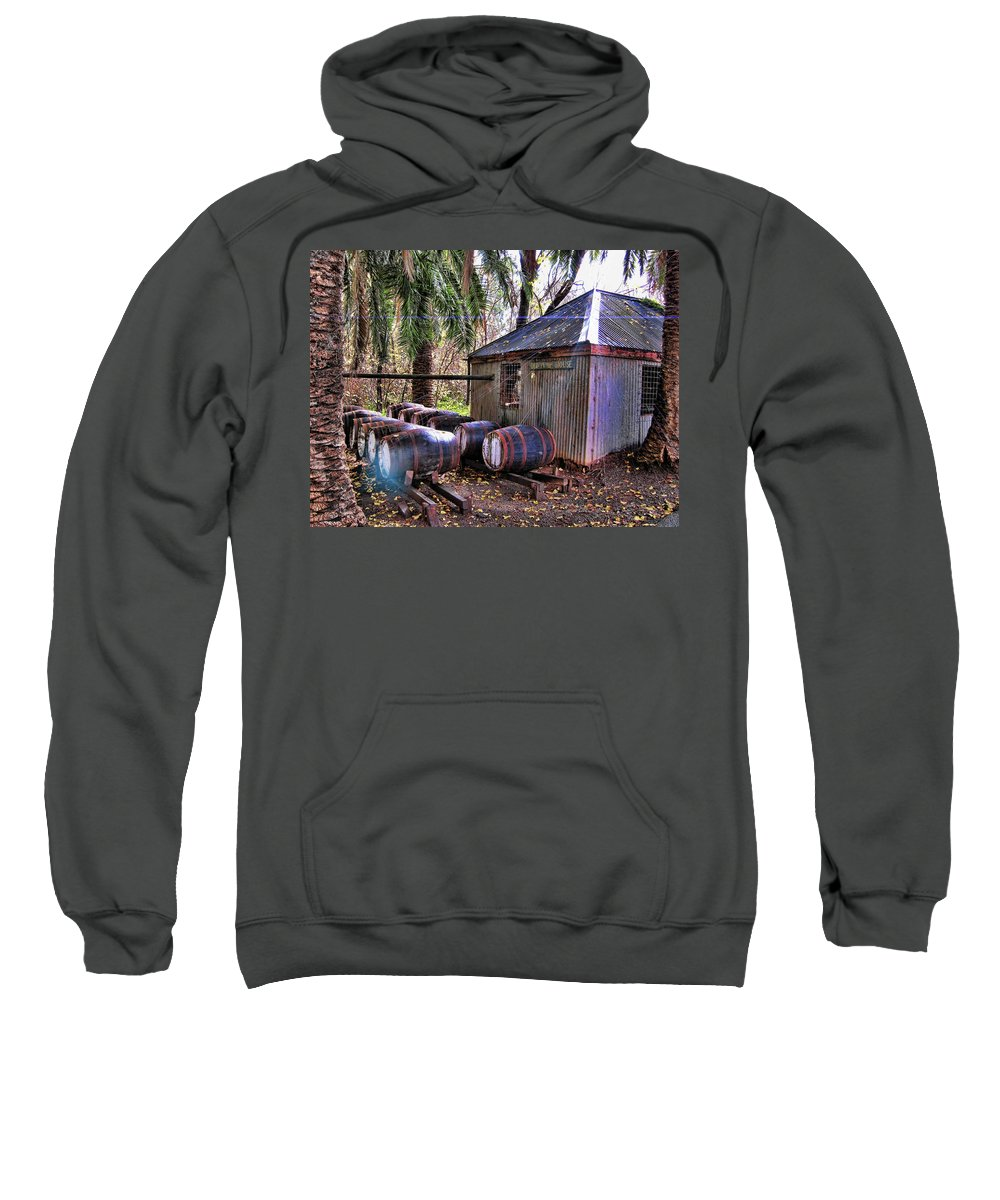 Shed Sweatshirt featuring the photograph The Pumphouse by Douglas Barnard