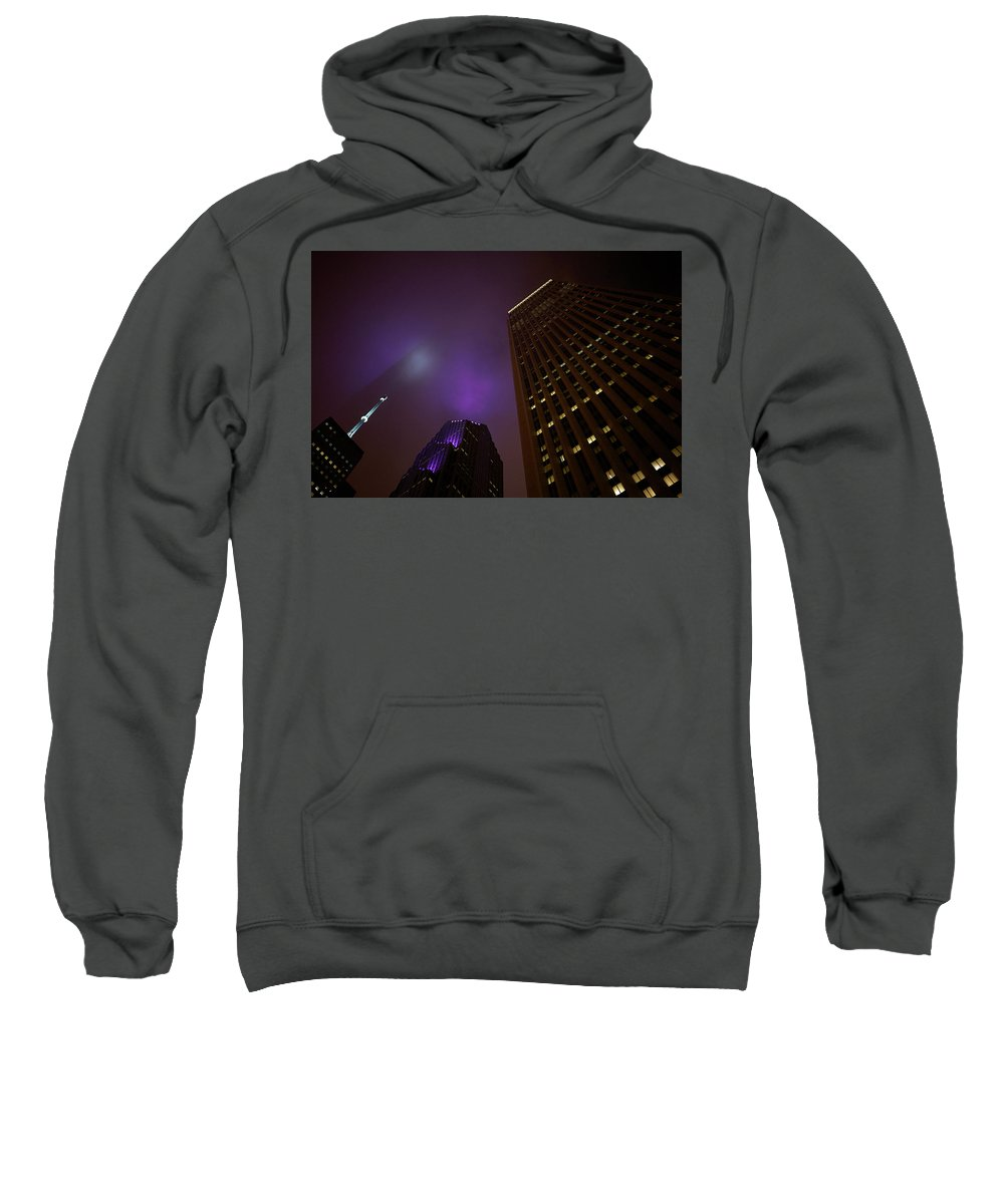 Chicago Sweatshirt featuring the photograph The Purple Fog by Brian Bartz